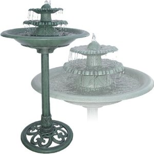 Decorative Three Tier Birdbath Fountain