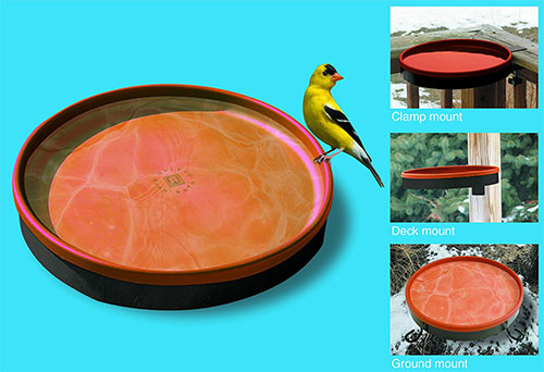 heated birdbath, bird bath,